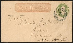 "Sale Number 1189, Lot Number 1058, Arizona Area of New Mexico Territory""Arizona N.M. Jan. 4"" (1860) Circular Datestamp on Wells, Fargo & Co. Express Cover Carried by Butterfield Overland Mail, ""Arizona N.M. Jan. 4"" (1860) Circular Datestamp on Wells, Fargo & Co. Express Cover Carried by Butterfield Overland Mail"