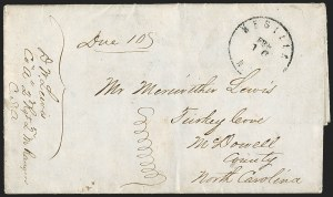 "Sale Number 1189, Lot Number 1089, Civil War and Confederate Arizona""Mesilla N.M. Feb. 16"" (1862) Circular Datestamp--First Day Postmark from the Confederate Territory of Arizona, ""Mesilla N.M. Feb. 16"" (1862) Circular Datestamp--First Day Postmark from the Confederate Territory of Arizona"