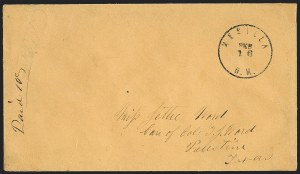 "Sale Number 1189, Lot Number 1090, Civil War and Confederate Arizona""Mesilla N.M. Feb. 16"" (1862) Circular Datestamp--First Day Postmark from the Confederate Territory of Arizona, ""Mesilla N.M. Feb. 16"" (1862) Circular Datestamp--First Day Postmark from the Confederate Territory of Arizona"