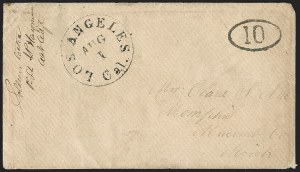 Sale Number 1189, Lot Number 1095, Civil War and Confederate Arizona1862 July--Vedette Mail from Tucson to Los Angeles via Fort Yuma, 1862 July--Vedette Mail from Tucson to Los Angeles via Fort Yuma