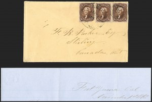 Sale Number 1189, Lot Number 1101, Civil War and Confederate Arizona1863 November 1--Only Reported Vedette Mail Cover to a Foreign Destination, 1863 November 1--Only Reported Vedette Mail Cover to a Foreign Destination