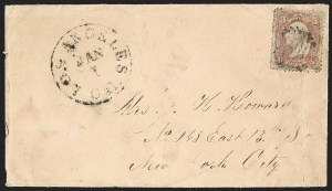 Sale Number 1189, Lot Number 1102, Civil War and Confederate Arizona1863 December--Civilian Mail Carried by Vedette Riders, 1863 December--Civilian Mail Carried by Vedette Riders