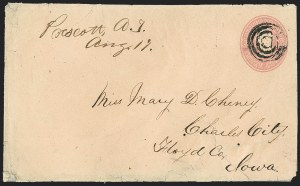 Sale Number 1189, Lot Number 1164, Arizona Territory Post Offices, cont.,