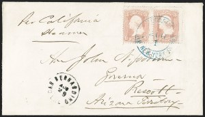 Sale Number 1189, Lot Number 1165, Arizona Territory Post Offices, cont.Prescott--Earliest Inbound Mail, Prescott--Earliest Inbound Mail