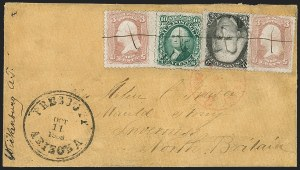Sale Number 1189, Lot Number 1167, Arizona Territory Post Offices, cont.Prescott to Inverness, Scotland, Prescott to Inverness, Scotland