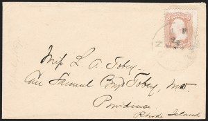 "Sale Number 1189, Lot Number 1176, Arizona Territory Post Offices, cont.""Tucson A T 23 Mar."" (1867), ""Tucson A T 23 Mar."" (1867)"