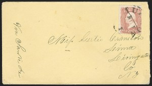 "Sale Number 1189, Lot Number 1177, Arizona Territory Post Offices, cont.""Tucson A T (day?) Nov."" (1867), ""Tucson A T (day?) Nov."" (1867)"
