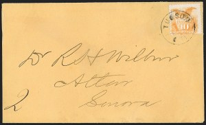 Sale Number 1189, Lot Number 1183, Arizona Territory Post Offices, cont.10¢ Yellow (116), 10¢ Yellow (116)