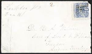 Sale Number 1189, Lot Number 1186, Arizona Territory Post Offices, cont.3¢ Ultramarine (114), 3¢ Ultramarine (114)