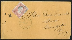 Sale Number 1189, Lot Number 1188, Arizona Territory Post Offices, cont.Tucson, Tucson
