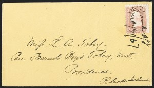 Sale Number 1189, Lot Number 1192, Arizona Territory Post Offices, cont.,