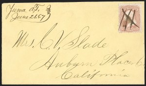 Sale Number 1189, Lot Number 1193, Arizona Territory Post Offices, cont.,