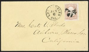 "Sale Number 1189, Lot Number 1194, Arizona Territory Post Offices, cont.Yuma, Arizona Territory, ""Flood Mail"" Military Express to Los Angeles, Yuma, Arizona Territory, ""Flood Mail"" Military Express to Los Angeles"
