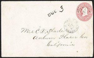 "Sale Number 1189, Lot Number 1195, Arizona Territory Post Offices, cont.Yuma, Arizona Territory, ""Flood Mail"" Military Express to Los Angeles, Yuma, Arizona Territory, ""Flood Mail"" Military Express to Los Angeles"