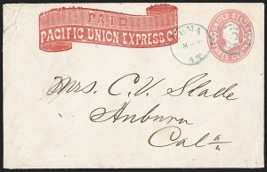 "Sale Number 1189, Lot Number 1199, Arizona Territory Post Offices, cont.""Yuma A.T. May 19"" (1869), ""Yuma A.T. May 19"" (1869)"
