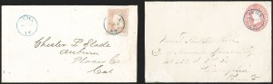 "Sale Number 1189, Lot Number 1202, Arizona Territory Post Offices, cont.""Yuma A.T. Sep. 5"" (1867), ""Yuma A.T. Sep. 5"" (1867)"