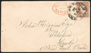 Sale Number 1190, Lot Number 1323, Steamboat Mail–Independent and C.S.A. Use of U.S. Stamps,