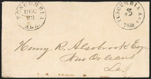 Sale Number 1190, Lot Number 1333, Postmasters' ProvisionalsTuscumbia Ala., 5c Black entire (84XU1), Tuscumbia Ala., 5c Black entire (84XU1)