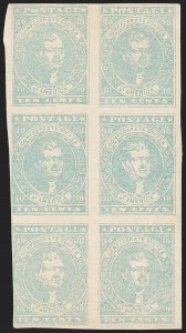 Sale Number 1190, Lot Number 1353, 10¢ Blue Lithograph10c Light Milky Blue, Stone Y (2e), 10c Light Milky Blue, Stone Y (2e)