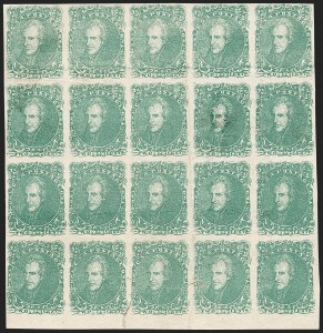Sale Number 1190, Lot Number 1355, 2¢ Green Lithograph2c Green (3), 2c Green (3)