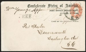 Sale Number 1190, Lot Number 1422, C.S.A. Post Office Department ImprintsPost Office Department, Official Business, Chief of the Contract Bureau (CON-02c), Post Office Department, Official Business, Chief of the Contract Bureau (CON-02c)