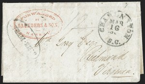 Sale Number 1190, Lot Number 1442, Blockade-Run MailForwarded by Saunders & Son, Nassau, Forwarded by Saunders & Son, Nassau