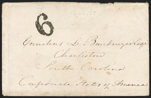 Sale Number 1190, Lot Number 1444, Blockade-Run MailTours, France to Charleston S.C. via Nassau, Tours, France to Charleston S.C. via Nassau