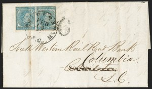 Sale Number 1190, Lot Number 1445, Blockade-Run MailLiverpool, England to Columbia S.C. via Nassau, Liverpool, England to Columbia S.C. via Nassau