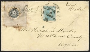 Sale Number 1190, Lot Number 1446, Flag-of-Truce Mail5c Blue, Local (7), 5c Blue, Local (7)