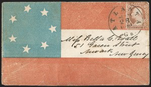 Sale Number 1190, Lot Number 1459, Patriotics–Independent and Confederate State Use of U.S. StampsAtlanta Ga. Mar. 28, 1861, Atlanta Ga. Mar. 28, 1861