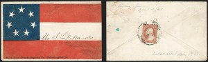 Sale Number 1190, Lot Number 1463, Patriotics–Independent and Confederate State Use of U.S. StampsRome Ga. Apr. 4 (1861), Rome Ga. Apr. 4 (1861)
