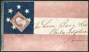 Sale Number 1190, Lot Number 1465, Patriotics–Independent and Confederate State Use of U.S. StampsBrownsville Ten. Apr. 17 (1861), Brownsville Ten. Apr. 17 (1861)