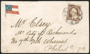 Sale Number 1190, Lot Number 1466, Patriotics–Independent and Confederate State Use of U.S. StampsRichmond Va. Apr. 19, 1861, Richmond Va. Apr. 19, 1861