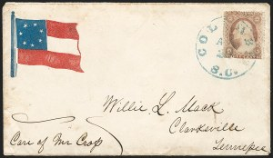 Sale Number 1190, Lot Number 1467, Patriotics–Independent and Confederate State Use of U.S. StampsColumbia S.C. Apr. 20 (1861), Columbia S.C. Apr. 20 (1861)