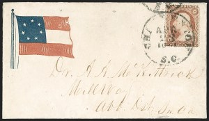Sale Number 1190, Lot Number 1468, Patriotics–Independent and Confederate State Use of U.S. StampsCharleston S.C. Apr. 23, 1861, Charleston S.C. Apr. 23, 1861