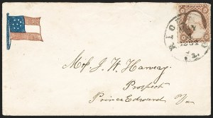 Sale Number 1190, Lot Number 1470, Patriotics–Independent and Confederate State Use of U.S. StampsRichmond Va. May 4, 1861, Richmond Va. May 4, 1861