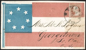 Sale Number 1190, Lot Number 1471, Patriotics–Independent and Confederate State Use of U.S. StampsMemphis Ten. May 5 (1861), Memphis Ten. May 5 (1861)