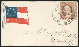 Sale Number 1190, Lot Number 1476, Patriotics–Independent and Confederate State Use of U.S. StampsCharleston S.C. May 12, 1861, Charleston S.C. May 12, 1861