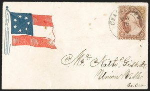 Sale Number 1190, Lot Number 1478, Patriotics–Independent and Confederate State Use of U.S. StampsCharleston S.C. May 16, 1861, Charleston S.C. May 16, 1861