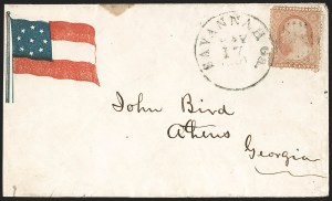 Sale Number 1190, Lot Number 1480, Patriotics–Independent and Confederate State Use of U.S. StampsSavannah Ga. May 17, 1861, Savannah Ga. May 17, 1861