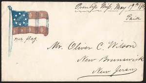 Sale Number 1190, Lot Number 1481, Patriotics–Independent and Confederate State Use of U.S. Stamps,