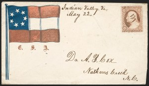 Sale Number 1190, Lot Number 1482, Patriotics–Independent and Confederate State Use of U.S. Stamps,