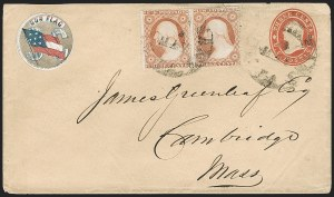 Sale Number 1190, Lot Number 1483, Patriotics–Independent and Confederate State Use of U.S. StampsNew Orleans La. May 24 (1861), New Orleans La. May 24 (1861)