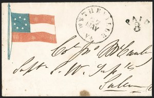 Sale Number 1190, Lot Number 1484A, Patriotics–Independent and Confederate State Use of U.S. StampsWytheville Va. 27 May (1861), Wytheville Va. 27 May (1861)
