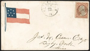 Sale Number 1190, Lot Number 1486, Patriotics–Independent and Confederate State Use of U.S. StampsWinchester Va. May 29, 1861, Winchester Va. May 29, 1861
