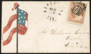 Sale Number 1190, Lot Number 1491, Patriotics–Independent and Confederate State Use of U.S. StampsDandridge Ten. May 31 (1861) -- Last Day of Mail Service between North and South, Dandridge Ten. May 31 (1861) -- Last Day of Mail Service between North and South