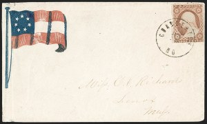 Sale Number 1190, Lot Number 1493, Patriotics–Independent and Confederate State Use of U.S. StampsCharleston Mo. June 14(?) (1861), Charleston Mo. June 14(?) (1861)