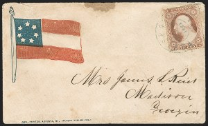 Sale Number 1190, Lot Number 1494, Patriotics–Independent and Confederate State Use of U.S. StampsPortsmouth Va. ?, 1861, Portsmouth Va. ?, 1861