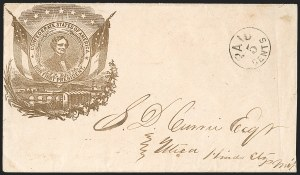 Sale Number 1190, Lot Number 1503A, Patriotics–Postmasters' ProvisionalsJackson Miss., 5c Black entire (43XU1), Jackson Miss., 5c Black entire (43XU1)