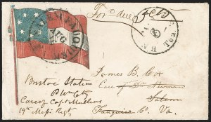 Sale Number 1190, Lot Number 1504, Patriotics–Postmasters' ProvisionalsKnoxville Tenn., 5c Black entire (47XU5), Knoxville Tenn., 5c Black entire (47XU5)